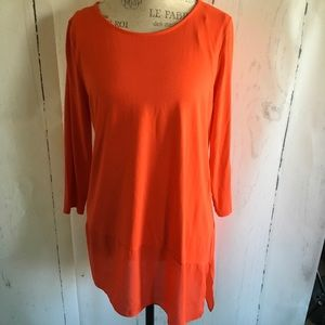 Vince Camuto Red Asymmetrical Top NWOT